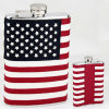 Steel inoxidable Hip Flask con Flag