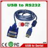 Niedriger Cost Ftdi Chip USB 2.0 zu Serial RS232 RS 232 RS-232 Cable Converter mit dB9 Connector