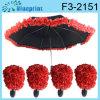 Paraguas de Rose de la boda (F3-2151)