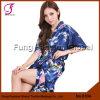 0104 Femme de bonne qualité Design floral Robe de soie chinoise