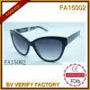 Armature matérielle d'acétate avec les lunettes de soleil polaroïd d'objectif (FA15002)