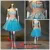 a - линия Princess Без бретелек Коротк/цветки Wiwth миниого платья (6340)