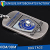 Kundenspezifisches Nickel überzogene Metallfirmenzeichen-weiche Decklack-Hundeplakette