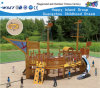 O campo de jogos Multifunctional do navio de madeira caçoa Playsets Hf-16902