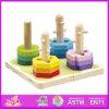 2014 Kids novo Wooden Stack e Shape Puzzle, Popular Children Shape Puzzle Toy, Hot Sale Wooden Preschool Shape Puzzle W13e013