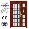 Проект строя дверь электрической стали входа хорошего качества стеклянную (W-GD-09)