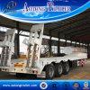 De tri Aanhangwagen van het Dek van de Daling van de As, Gooseneck van 50 Ton Flatbed Aanhangwagens voor Verkoop