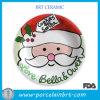 Noël personnalisé de porcelaine de biscuit plaque bon marché