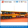Niedriges Price 3 Axle 50ton 12 Twist Lock Flat Bed Container Semi Trailer