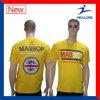 Modèle bon marché de T-shirts de chemises de circuit de couleur jaune