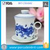 De Chinese Hete Verkopende Kop van het Porselein met Ceramisch Deksel