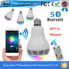 LED Light Bluetooth Speaker 10W LED Bulb APP Control LED를 가진 창조적인 Remote Bluetooth Great Sound Speaker