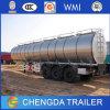 Acoplado líquido del petrolero del agua del acero inoxidable del tanque del alimento de 3 árboles