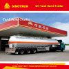 3 semi-remorque de réservoir de stockage de pétrole de l'essieu 4000-5000L