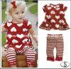 [ببي جرل] ملابس يثبت/أحمر حالة حبّ [شيرتستريب] لهاث, أطفال فصل صيف لباس مجموعة