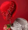 Rote/graue handgemachte lustige Filz-Wolle-Hüte China