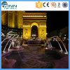 Beleuchtung-springender Strahlen-Wasser-Brunnen des Edelstahl-LED