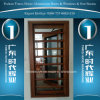 Aluminiumfenster mit Schutzvorrichtung u. Rasterfeld (Gitter)