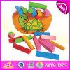 Комплект игрушки малыша баланса нового деревянного блока 2015 установленный, цветастая симпатичная игра игрушки малыша баланса, игрушка W11f038 малыша баланса горячего сбывания милая деревянная
