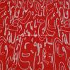 Zm19 de Nylon Rayon Geweven Stof van Bengaline van de Jacquard Spandex voor Kledingstukken