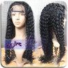 Curly bruto real humano peluca de pelo
