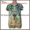 2016 новых V-Neck Short Sleeve Floral Print T-Shirt Arrive Mama с Beading (NX0132)