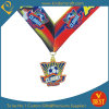 O projeto pessoal barato personalizou a medalha impressa liga do futebol do zinco com colhedor
