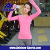 Йога пригодности резвится рубашка втулки женщин Quick-Dry длинняя