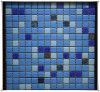Configuration de mosaïque en verre en verre bleue de tuile de mosaïque de qualité d'approvisionnement de Chinois pour la piscine