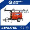 Luft abgekühlter heller Aufsatz des Dieselgenerator-5kw mit dem 6m Mast