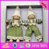 2017 poupées en bois W02A232 de bébé de jouet de dessin animé de Noël de nouveaux produits