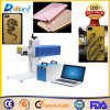 Máquina de la caja del teléfono de la marca del laser de la fibra de la etiqueta de plástico del CNC de la buena calidad