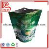 Bolso plástico plano inferior del alimento de bocado de la cremallera