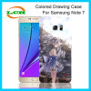 Gekleurd Trekkend het Geval van de Hulp van het Ontwerp van Af:drukken voor Nota 7 van Samsung