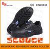 Anti Slip Antistatique Sans Dentelle en Cuir Ingénierie Chaussures de Sécurité de Travail (RS5854)