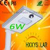 уличный свет 6W интегрированный СИД солнечный