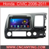 Reprodutor de DVD do carro para o reprodutor de DVD puro do carro do Android 4.4 com a tela de toque capacitiva GPS do processador central A9 Bluetooth para Honda Civic 2006-2011 (AD-7658R)