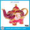 Teapot colorido santamente do elefante do estilo indiano
