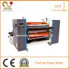 Papel termal de alta velocidad que raja la máquina el rebobinar