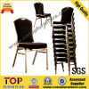 熱い販売法鋼鉄黒いファブリック宴会のスタック可能会合の会議の椅子