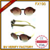 Óculos de sol de madeira de bambu novos do meio frame do estilo da forma da tendência (FX190)