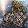 Визуализирование фактически реальности вида с воздуха архитектурноакустическое
