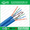 青いCAT6 U/UTPは二倍になるか、またはケーブル23AWGネットワークLANケーブルを結び付ける