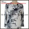 Round Neck Long Sleeveによってのママの編まれる印刷のセーター(A6513)