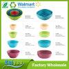 Tazón de fuente de bambú colorido al por mayor de la fibra de la ensalada redonda verde que va
