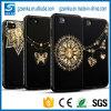 3D iPhone 7のための金によって塗られるきらめき水晶輝いた優雅なTPUのケース