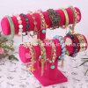 Carrinho de indicador cor-de-rosa do bracelete da pulseira de veludo (219-1A)