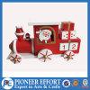 Diseño de madera del tren del calendario del advenimiento con Santa para la decoración de la Navidad