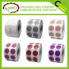 Multipropósito Redondo Color etiqueta adhesiva Codificación
