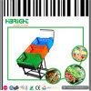 Стеллаж для выставки товаров фрукт и овощ супермаркета с клетями
